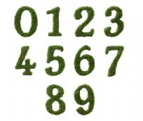 Moss Wedding Table Numbers 0 - 9